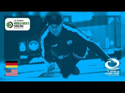 Germany v United States - round robin - Pioneer Hi-Bred World Men's Curling Championships 2019