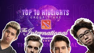 Top 10 Plays of The International 9 | Group Stage