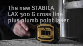 Ristjoon- ja punktlaser Stabila LAX 300 G roheline kiir