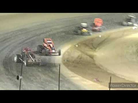 Great Lakes Traditional Sprints A-Main - Crystal Motor Speedway - 9-18-2021 - dirt track racing video image