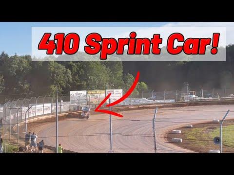 Bill Balog Ohio Speedweek Qualifying at the SHARON SPEEDWAY! (410 Sprint Car) - dirt track racing video image