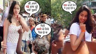 What Bollywood Star Kids Do When Beggars Ask For Money- Jhanvi Kapoor,Ananya Panday,SaraAliKhan
