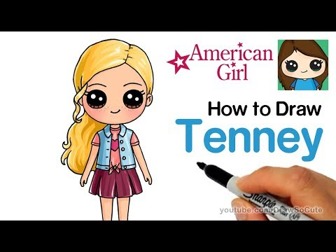 How to Draw Tenney Easy | American Girl Doll - default