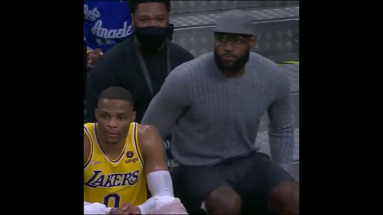 LeBron helping coach the players while out with an injury   #Shorts