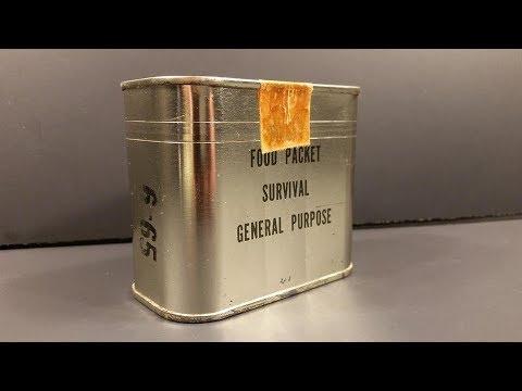 1965 Food Packet Survival General Purpose Ration Emergency Vietnam Pilot MRE Review Taste Test - UC2I6Et1JkidnnbWgJFiMeHA