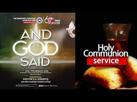 DAY 6 RCCG HOLY GHOST CONVENTION 2019 - HOLY COMMUNION SERVICE