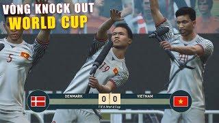 PES 19 | FIFA WORLDCUP | VÒNG 1/8 | VIETNAM vs DENMARK - Giấc mơ Bóng Đá VIỆT NAM