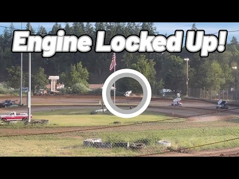 Carly Holmes ENGINE LOCKED UP   Cottage Grove Speedway   Sprint Car - dirt track racing video image