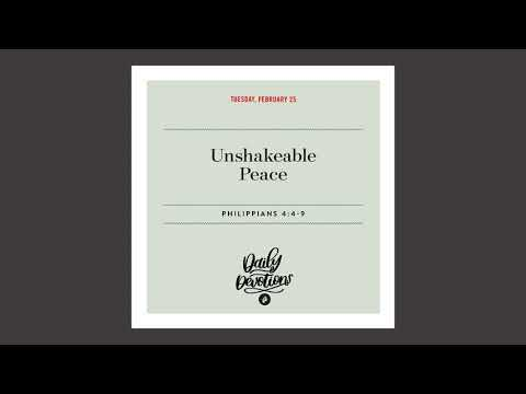 Unshakeable Peace - Daily Devotion