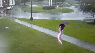 CRAZY VIDEO: Man gets struck by lightning while walking in storm | ABC7
