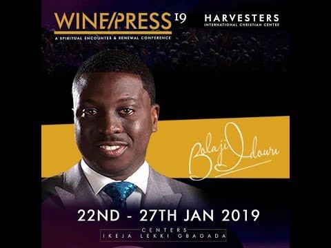 WINEPRESS 2019  Pst Bolaji Idowu   Tue 22nd Jan, 2019