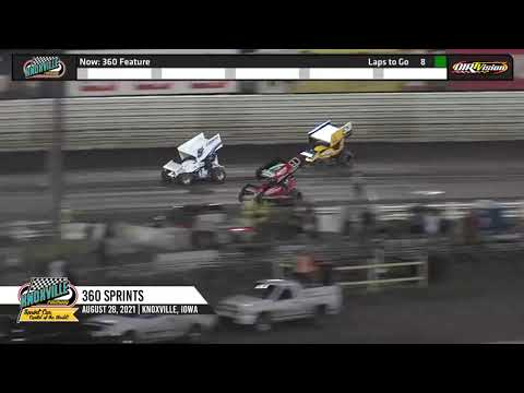 Knoxville Raceway 360 Highlights - August 28, 2021 - dirt track racing video image
