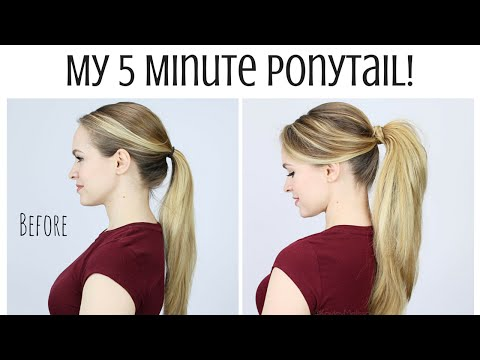 My 5 Minute Ponytail Routine - KayleyMelissa - UCctjAAIUSW3DRS-5Phh_hgQ