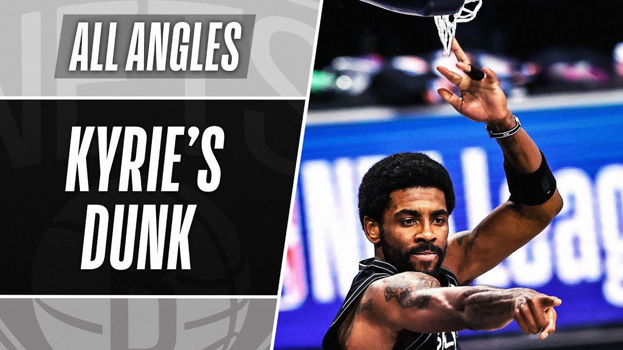 ALL-ANGLES: 🚨 Kyrie Two-Handed POSTER Dunk! 🚨