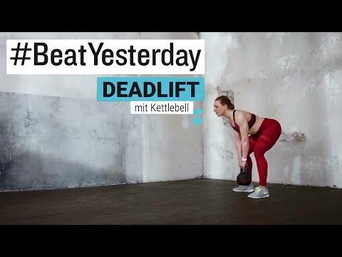 #BeatYesterday Workout Tutorial: Deadlift / Kreuzheben mit Kettlebell und Langhantel