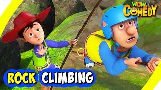 Chacha Bhatija In Hindi- EP38 | Rock Climbing | Funny Videos For Kids | Wow Kidz Comedy