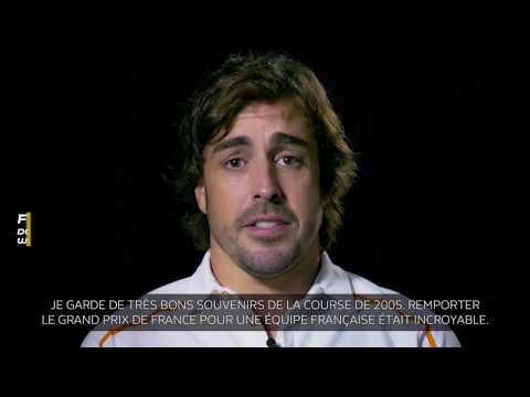 2005 : Victoire de Fernando Alonso sur le circuit de Magny-Cours