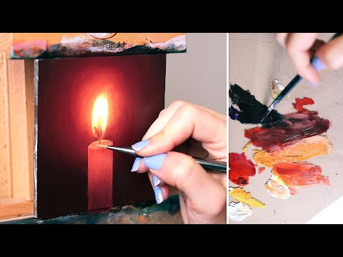 How to Paint a Candle in Oils | Oil Painting for Beginners
