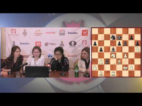 Women's World Chess Championship Match. Round 7 press-conference.