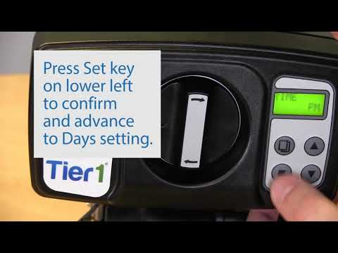 How to Program Tier1 Iron, Manganese and Hydrogen Sulfide AIO Water Filter Control Valve