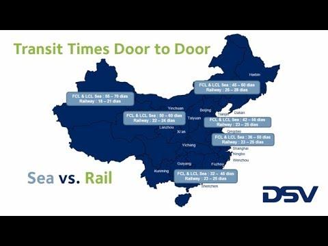 Ventajas y transit times ferrocarril China España