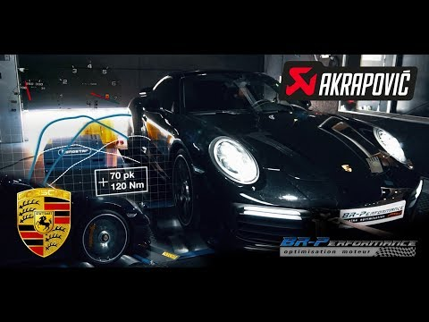 Porsche 911 3.8 Turbo S Remap Stage 1 With Akrapovic exhaust By BR-Performance