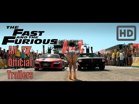 Fast & Furious: All Official Trailers HD! (1,2,3,4,5,6,7) - default