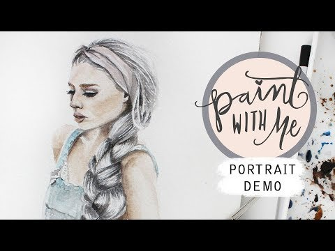 PAINT (& CHAT) WITH ME: Female Fashion Portrait Watercolor Demo (Kirsten Zellers)