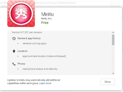 MeituPic - Anime Makeover Application Invading Your Privacy?