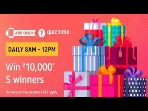 Amazon Pay Quiz Contest Answers ,1st March 2019, 8AM To 12PM