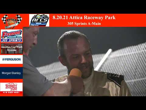 8.20.21 Attica Raceway Park 305 Sprints A-Main - dirt track racing video image