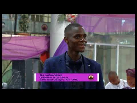 Late Ma Janet Celebration of Life Bro Sontomchukwu Sing It Louder