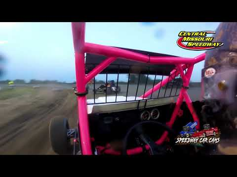 #82 Christie Thomason - Non-Winged Sprint - 6-19-2021 Central Missouri Speedway - In Car Camera - dirt track racing video image