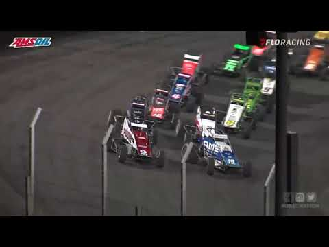 USAC AMSOIL National Sprint Car Highlights   Huset's Speedway USAC Nationals   9/10/2021 - dirt track racing video image