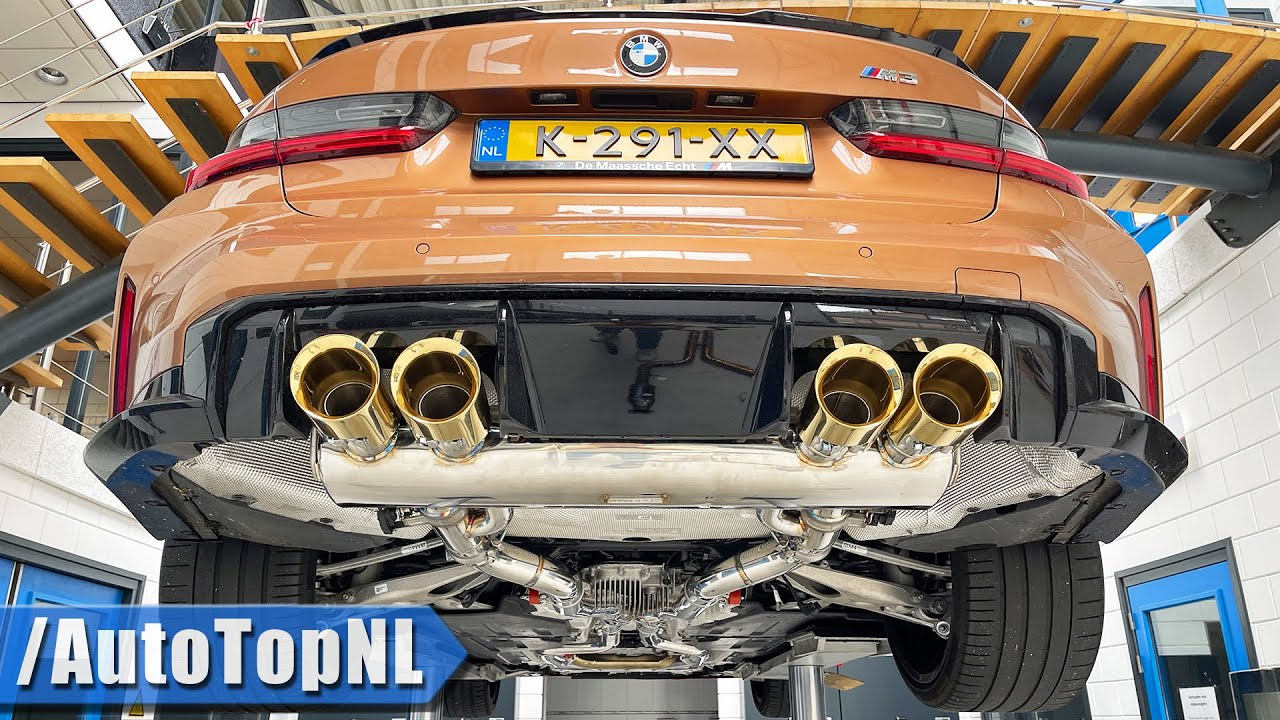 GOLDEN @FiExhaust on my BMW M3 G80 sounds INSANE! by AutoTopNL