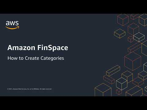 How to: Create Categories in Amazon FinSpace