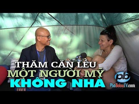 Thăm căn lều của một người Mỹ không nhà ở quận Cam