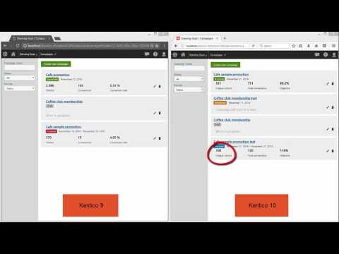Kentico 9 vs Kentico 10: Introduction to Campaigns