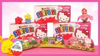 Hello Kitty - Œufs surprises KINDER -  Unboxing surprise eggs KITTY - Titounis