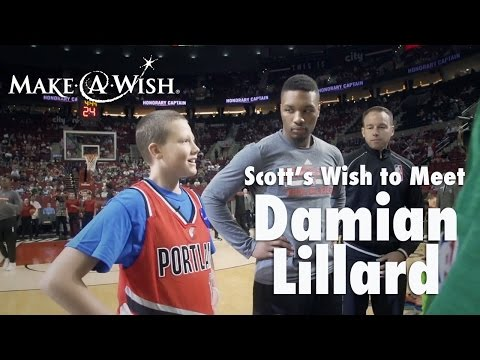 Scott's wish to meet Damian Lillard