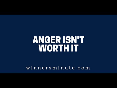 Anger Isnt Worth It  The Winner's Minute With Mac Hammond