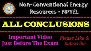 NCER-NPTEL | Conclusion Pages | All Weeks