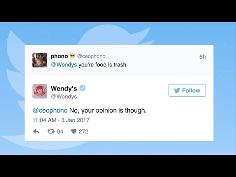 Wendy's roasts Twitter users