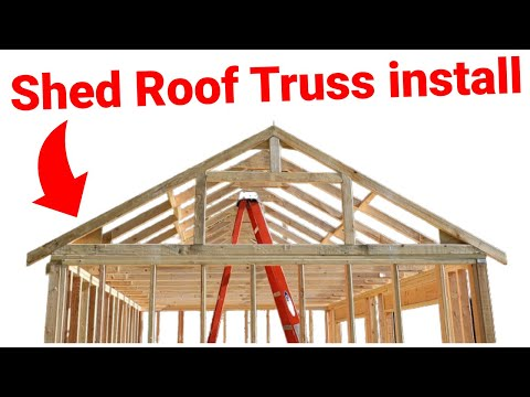 How I Built a Shed: Installing Roof Trusses