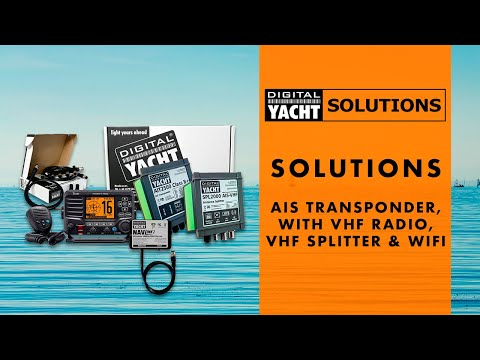 Digital Yacht Solutions - AIS Transponder with VHF Radio, VHF Splitter & WiFi - Digital Yacht