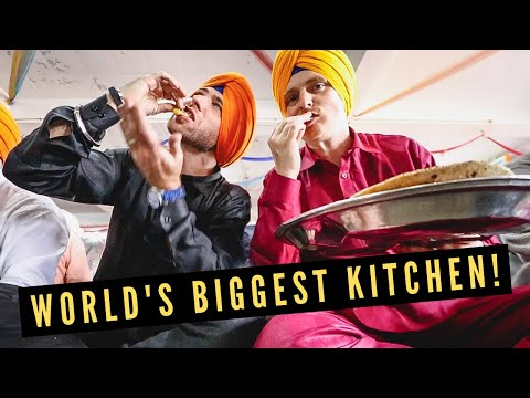 Visiting GOLDEN TEMPLE in Amritsar + Eating INDIAN FOOD in WORLD'S BIGGEST KITCHEN w/ 100000 People!