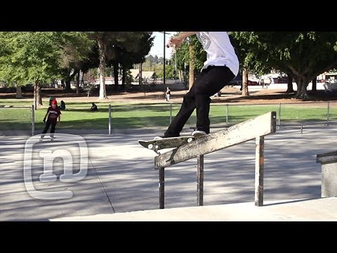 How To Do Front Feeble Grinds With Jordan Maxham: NKA Skateboarding - UCsert8exifX1uUnqaoY3dqA