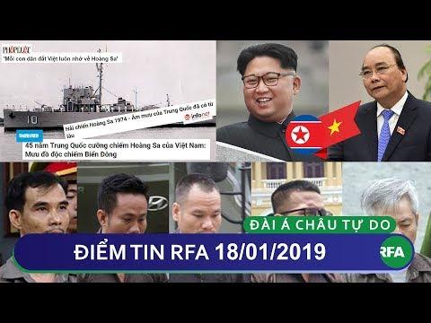 Điểm tin RFA tối 18/01/2019 | Kỷ niệm 45 năm mất Hoàng Sa nhưng tránh nhắc đến Việt Nam Cộng Hòa