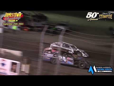 Jamestown Speedway IMCA Modified A-Main (50th Jamestown Stock Car Stampede) (9/25/21) - dirt track racing video image