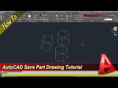 Autocad How To Save Part Of Drawing As New File Tutorial